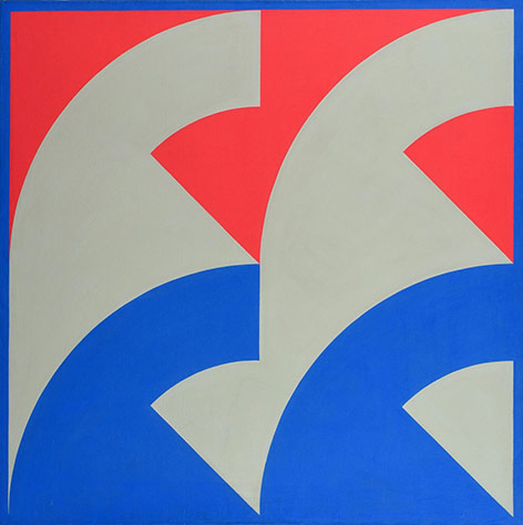 Ferenc Lantos, Composition II, 1970, courtesy acb Gallery