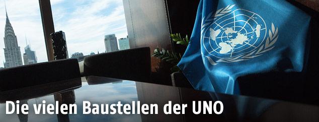 Fahne der Vereinten Nationen