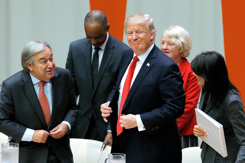 Antonio Guterres und Donald Trump