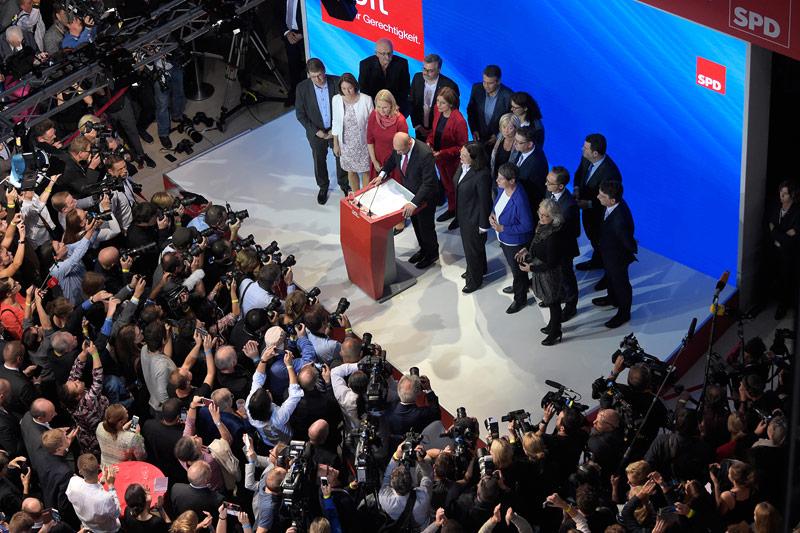 Martin Schulz in der Wahlzentrale der SPD