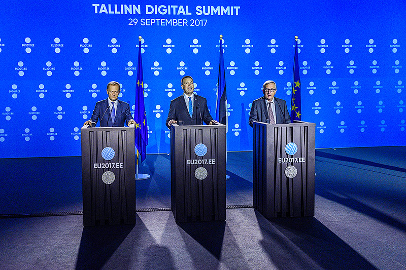 Donald Tusk, Juri Ratas, Jean-Claude Juncker