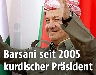 Präsident der Autonomen Region Kurdistan im Nordirak Masud Barzani