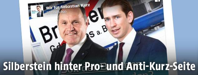 "Screenshot des Postings der Facebook-Gruppe ""Wir für Sebastian Kurz"""