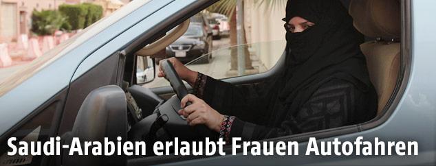Autofahrerin in Saudi Arabien