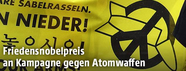 Logo der Internationale Kampagne zur Abschaffung von Atomwaffen (ICAN)