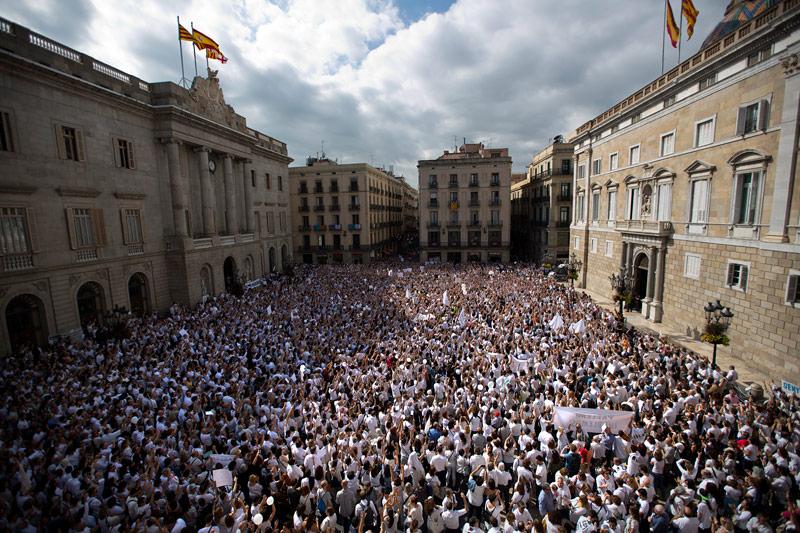 Demonstration in Spanien
