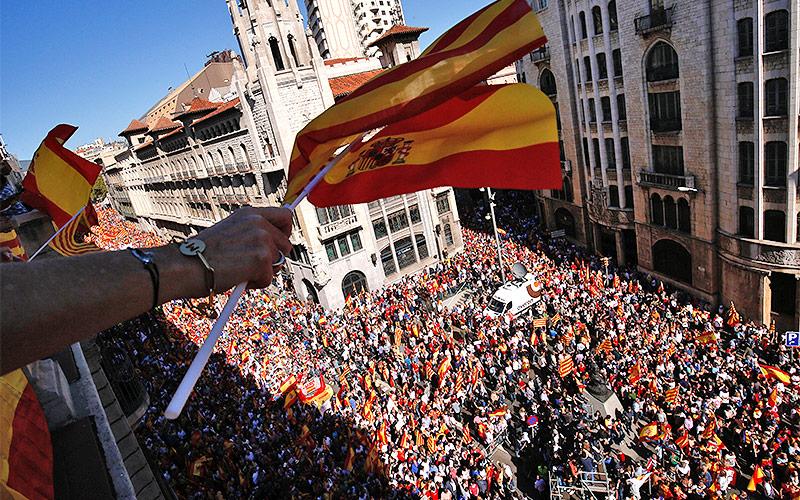 Demo für die Unabhängigkeit Kataloniens in Barcelona