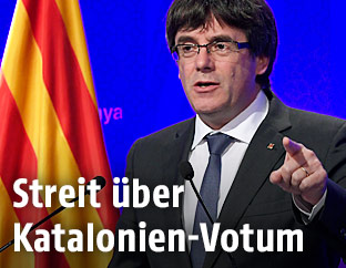 Der Chef der Regionalregierung, Carles Puigdemont
