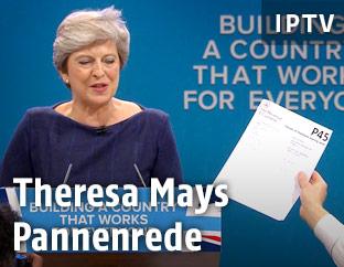 Theresa May während ihrer Rede