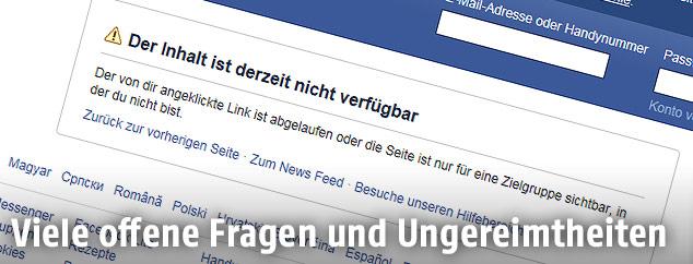 Screenshot einer Facebook-Seite zeigt Sebastian Kurz
