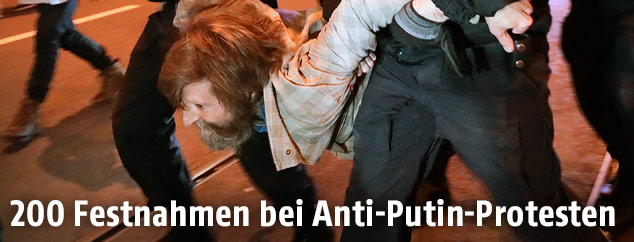 Festnahme bei Demonstration in Russland