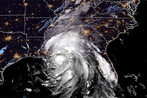 "Satellitenbild von Hurrikan ""Nate"""