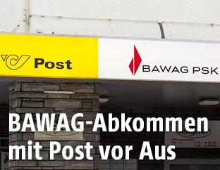 Post- und BAWAG-Filiale