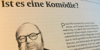 """Seite aus der Zeitschrift """"Datum"""" mit Bild von Franz Schuh"""