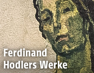 """Bildausschnitt aus Ferdinand Hodlers """"Blick in die Unendlichkeit"""""""