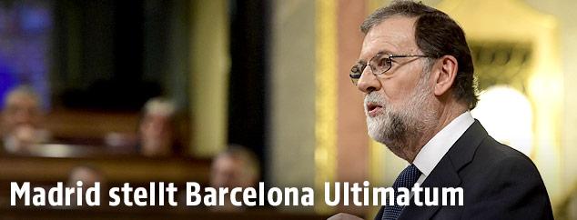 Spaniens Ministerpräsident bei einer Rede im Parlament