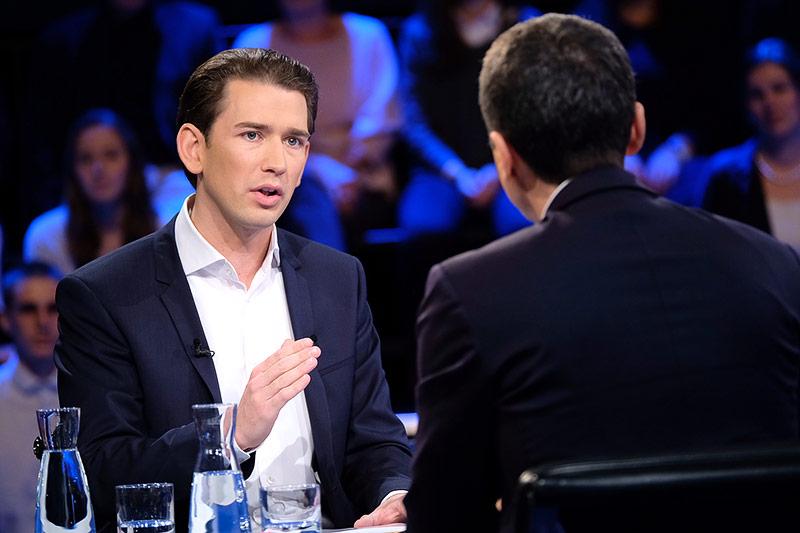 ÖVP-Chef Sebastian Kurz im ORF-Wahlstudio