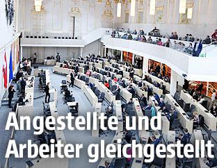 Sitzung des Nationalrates im großen Redoutensaal