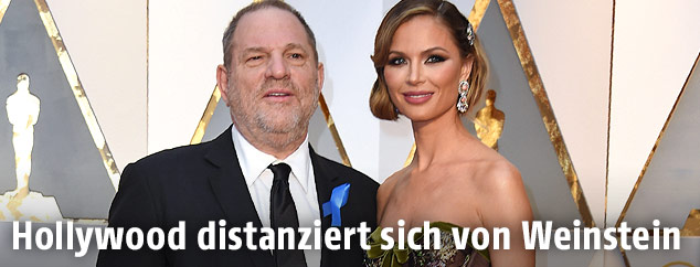 Hollywood-Produzent Harvey Weinstein und seine Frau US-Designerin Georgina Chapman