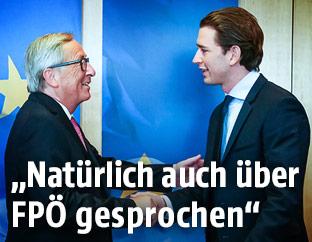 Jean-Claude Juncker und Sebastian Kurz