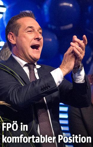 Jubel von Heinz Christian Strache (FPÖ)