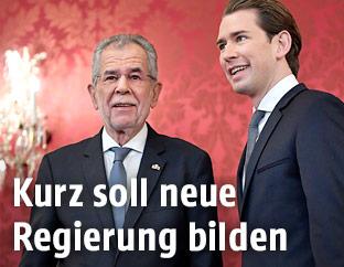 Bundespräsident Alexander Van der Bellen und ÖVP-Bundesparteiobmann Sebastian Kurz