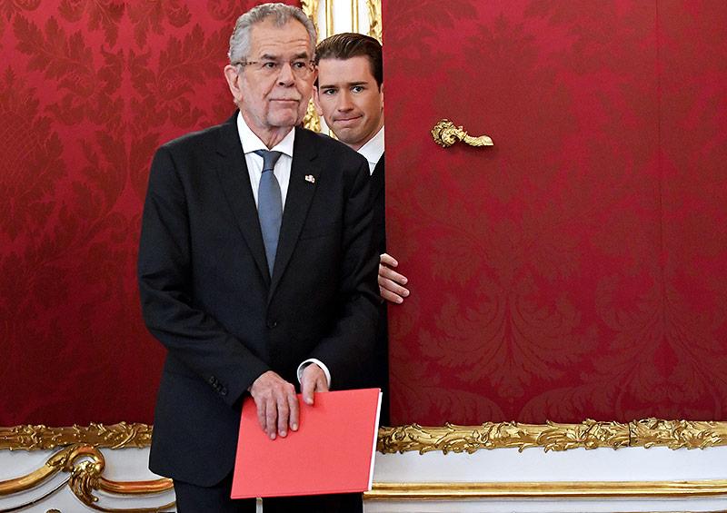 Bundespräsident Alexander Van der Bellen und Sebastian Kurz