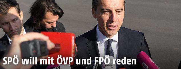 Christian Kern vor einer Sitzung des SPÖ-Präsidiums