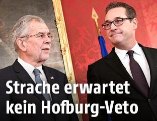 Bundespräsident Van der Bellen und FPÖ-Chef Heinz Christian Strache