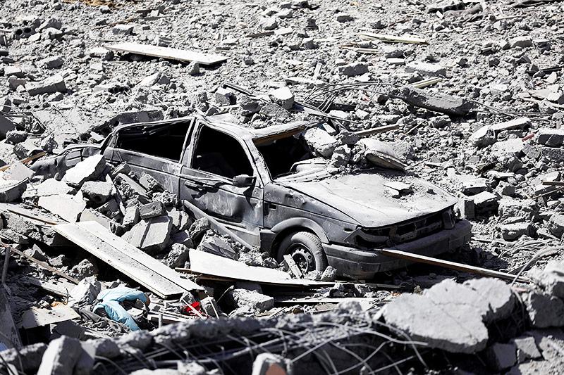 Zerstörung in Rakka