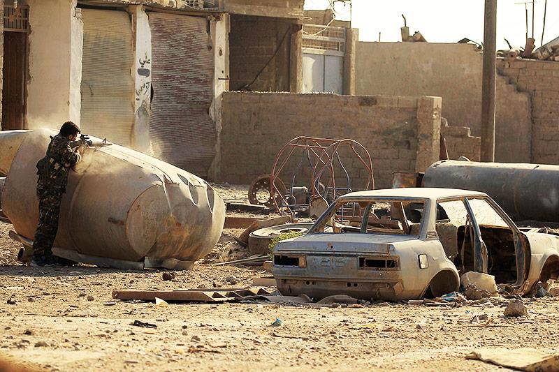 Syrischer Soldat in Rakka
