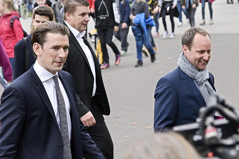 ÖVP-Bundesparteiobmann Sebastian Kurz und NEOS-Obmann Matthias Strolz