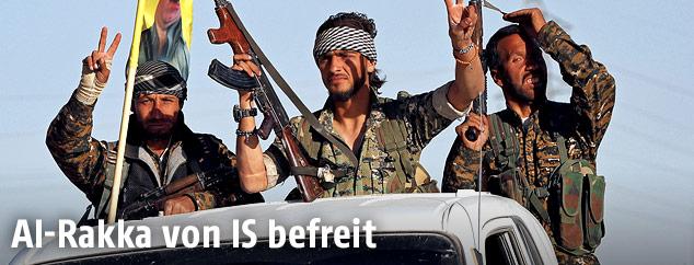 Kämpfer der Syrischen Demokratischen Kräfte