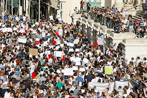 Demonstration in Valetta