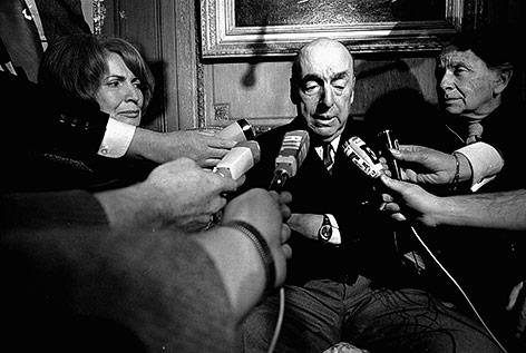 Chilenischer Schriftsteller Pablo Neruda im Jahr 1971