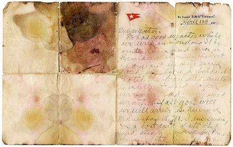 Brief von Alexander Oskar Holverson an seine Mutter aus dem Jahr 1912