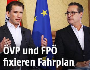Sebastian Kurz und Heinz-Christian Strache