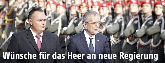 Alexander Van der Bellen und Hans-Peter Doskozil