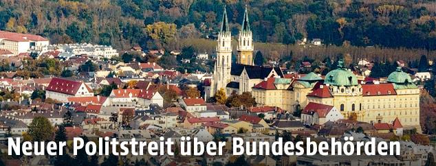 Luftansicht von Klosterneuburg