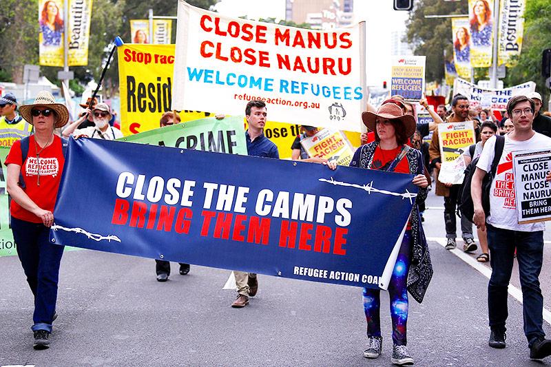 Demonstration für Flüchtlinge in Nauru
