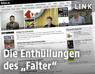 Screenshot der Falter-Website