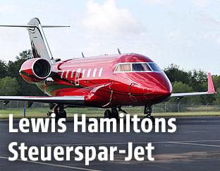 Privatjet Bombardier CL-600-2B16 Challenger 605  von Lewis Hamilton