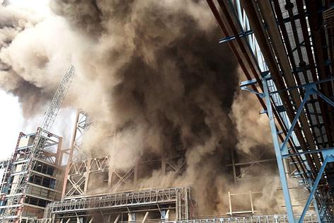 Explosion in Kohlekraftwerk
