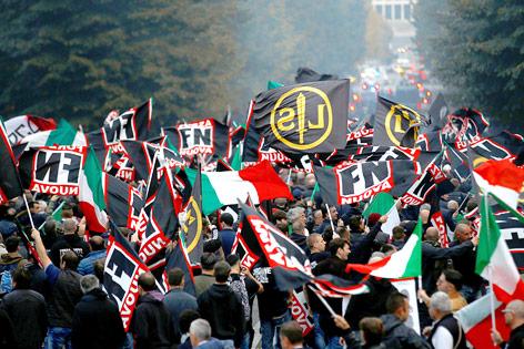 Demonstration in Rom