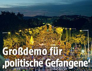 Demonstration in Katalonien