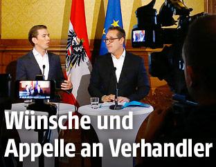 Sebastian Kurz (ÖVP) und HC Strache (FPÖ)