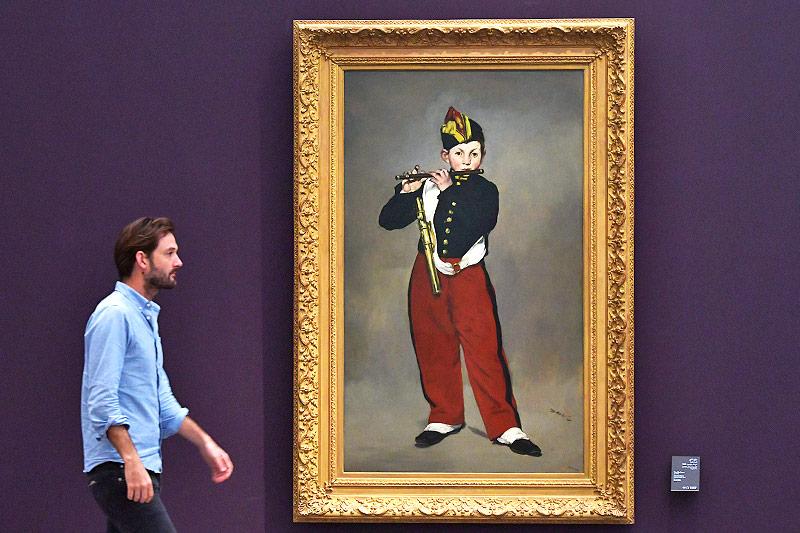 """Das Gemälde """"Der Pfeifer"""" von Edouard Manet"""
