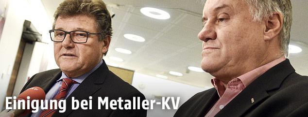 Verhandler der Arbeitnehmerseite, Rainer Wimmer und Karl Dürtscher