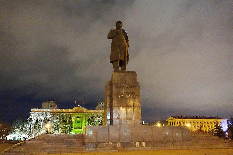 Der Lenin Platz in Krasnojarsk