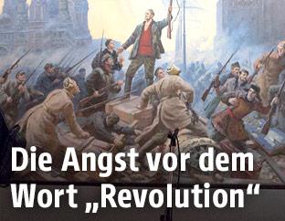 Ausschnitt von Sokolow-Skalja-Bild zur Oktoberrevolution